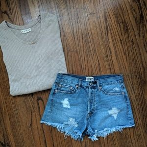 Umgee High Waisted Button Fly Cutoff Shorts NWOT
